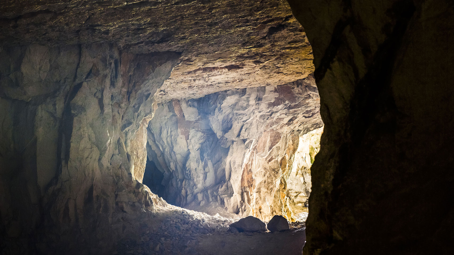 Cave looking toward the light