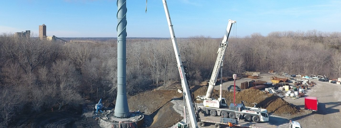 Lindwood Mining & Minerals replaced an aging smokestack